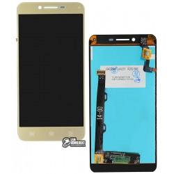 Дисплей для Lenovo A6020a46 Vibe K5 Plus, Lemon 3, золотистый, с сенсорным экраном (дисплейный модуль)