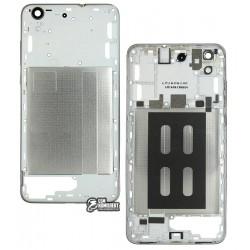 Средняя часть корпуса для Huawei Y6 II, серебристая, белая