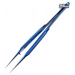 Пинцет прямой титановый с рифлёными ручками
