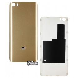 Задняя крышка батареи для Xiaomi Mi5, золотистая, пластик