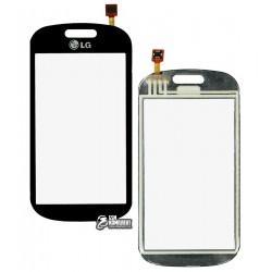 Тачскрин для LG GT350, черный