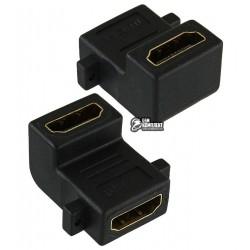 Переходник угловой, гнездо HDMI - гнездо HDMI