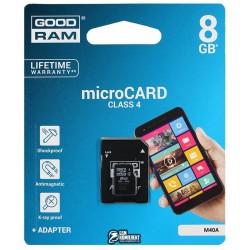 Карта памяти 8 Gb microSD GOODRAM SDHC Class4 (без адаптера)