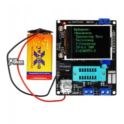 Тестер GM328A транзисторів, вимірювач RLC, ESR, генератор, частотомір, вольтметр