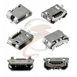 Коннектор зарядки для Huawei Honor 4X, P8 (GRA L09), P8 Lite (ALE L21), Y5 II, Y6 II Compact, 5 pin, micro-USB тип-B