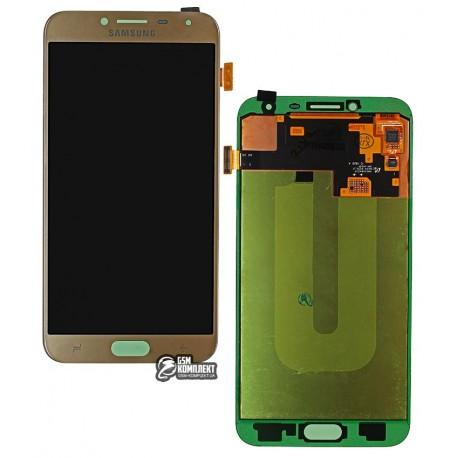 Дисплей для Samsung J400F Galaxy J4, золотистый, с сенсорным экраном (дисплейный модуль), Original (PRC), original glass