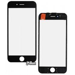 Стекло корпуса для Apple iPhone 6S, с OCA-пленкой, с рамкой, черное