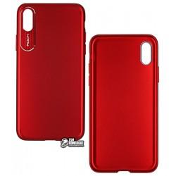 Чехол для Apple iPhone X, iPhone XS, Rock - Classy Series, бордовый