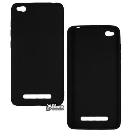 Чехол для Xiaomi Redmi 4A, Joy, силиконовый, матовый, черный