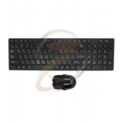 Беспроводной комплект (клавиатура+мышь) Wireless keyboard with russian language (Чёрный)