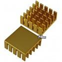 Радіатор алюмінієвий для чіпсета 22x22 x10 мм