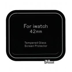 Закаленное защитное стекло для Apple Watch 42mm, 0,26 mm 9H, 2.5D, черное