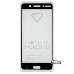 Закаленное защитное стекло для Nokia 6 Dual Sim, 0,25 мм, 2.5D, 9H, Full Glue, черное