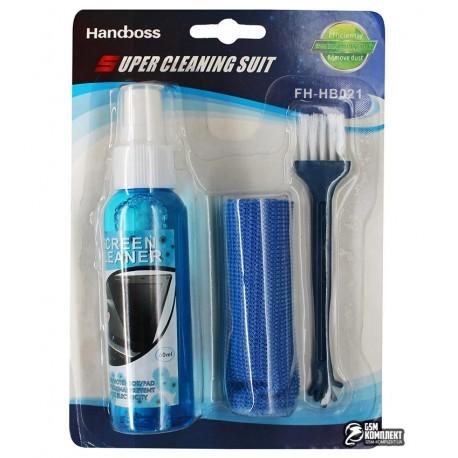 Набор для чистки экранов FH-HB021 (щетка, микрофибра, спрей)