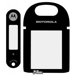 Стекло корпуса для Motorola U6, черное, полный комплект