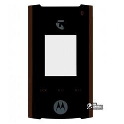 Стекло корпуса для Motorola V6, черный, внешнее