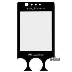 Стекло корпуса для Sony Ericsson W660i, черный