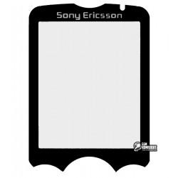 Стекло корпуса для Sony Ericsson W810, черное