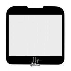 Стекло корпуса для Fly EZZY 4, черное, оригинал, #3.06.BK115.00DY/YW23-331-0007