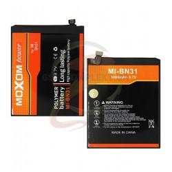 Аккумулятор BN31 для Xiaomi Mi A1, Mi5X, Redmi Note 5A, Li-Polymer, 3,85 B, 3080 мАч (MOXOM)