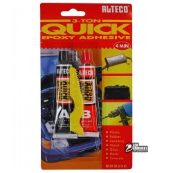 Клей эпоксидный Alteco 2-х компонентный, прозрачный, 2*32г (метал, пластик, стекло, резина)