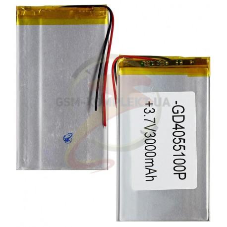 Акумулятор універсальний, 100 мм, 57 мм, 2.8 мм, Li-ion, 3,7 В, 3000 мАч