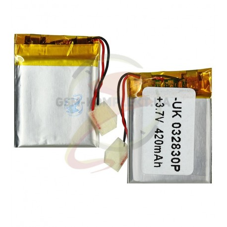 Аккумулятор,20 мм, 30 мм, 4.0мм,Li-ion3.7 В,400мАч,
