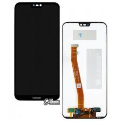 Дисплей для Huawei P20 Lite, черный, с сенсорным экраном (дисплейный модуль), original (PRC)
