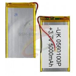 Аккумулятор для китайского планшета, универсальный (105*62*3,2 мм), (Li-ion 3.7V 2100mAh)