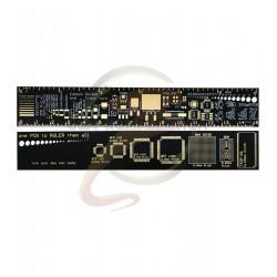 Многофункциональная линейка радиолюбителя PCB Ruler, L= 150 мм