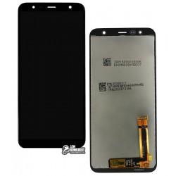 Дисплей для Samsung J415F Galaxy J4+, черный, с сенсорным экраном (дисплейный модуль), Original (PRC), original glass