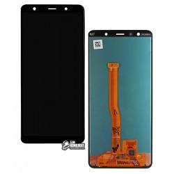 Дисплей для Samsung A750 Galaxy A7 (2018), черный, с сенсорным экраном (дисплейный модуль), Original (PRC), original glass