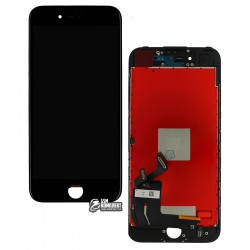 Дисплей iPhone 7, черный, с сенсорным экраном (дисплейный модуль), Сopy