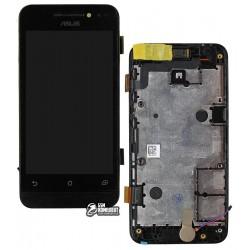 Дисплей для Asus ZenFone 4 (A400CXG), черный, с рамкой, с сенсорным экраном (дисплейный модуль)