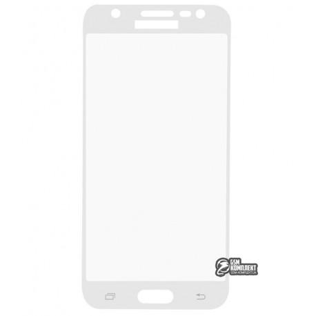 Загартоване захисне скло для Samsung J320H/DS Galaxy J3 (2016), J500 Galaxy J5, 2.5D, 0,26 мм 9H, біле