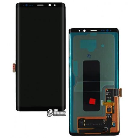 Дисплей для Samsung N950FGalaxy Note 8, черный, с сенсорным экраном, original (PRC)