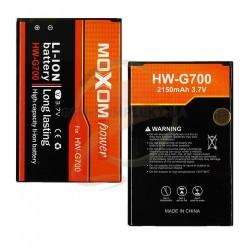 Аккумулятор HB505076RBC для Huawei Ascend G610-U20, Ascend G700-U10, Ascend Y600-U20 Dual Sim, Li-ion, 3,8В, 2100 мАч (Moxom)