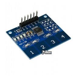 Сенсорная кнопка выключатель 4 канала HW-138 для Ардуино