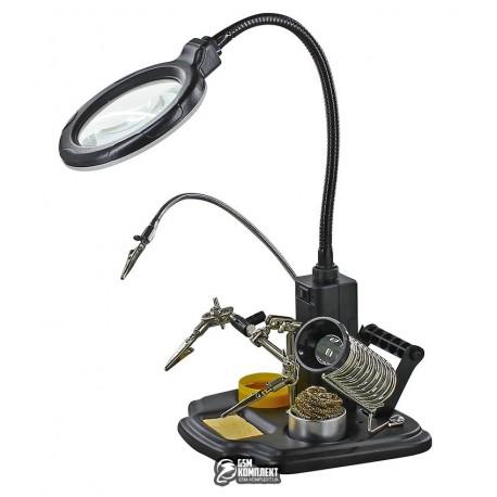 Держатель для плат ZD-10Y с линзой 3x d90, LED подсветка