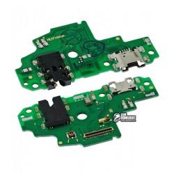 Шлейф для Huawei P Smart, коннектора наушников, коннектора зарядки, с микрофоном, плата зарядки