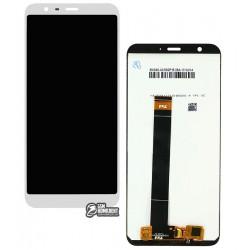 Дисплей для Meizu M8c, белый, с сенсорным экраном, Original (PRC)