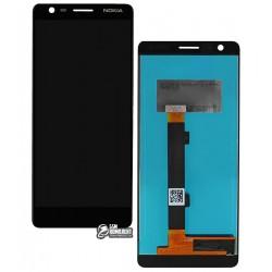 Дисплей для Nokia 3.1, черный, с сенсорным экраном (дисплейный модуль), Original (PRC)