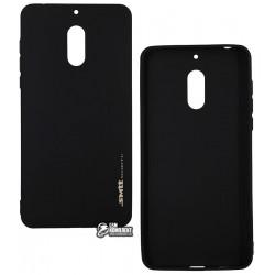 Чехол для Nokia 6 Dual Sim, Smtt, силиконовый, черный