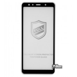 Закаленное защитное стекло Tiger Glass для Samsung A750 Galaxy A7 (2018), 0,26 мм 9H, 2.5D, Full Glue, черное