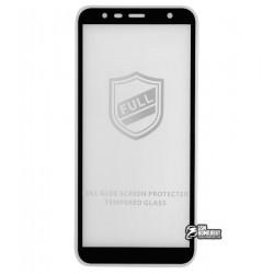 Закаленное защитное стекло Tiger Glass для Samsung J415 Galaxy J4 Plus (2018), 0,26 мм 9H, 2.5D, Full Glue, черное