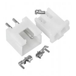 Разъем XH2.54-2pin, разъем, штекер, 2 коннектора JST