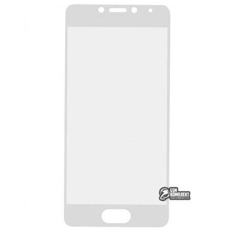 Закаленное защитное стекло для Meizu M5c 0,26 мм 9H, белое