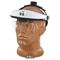 Бинокуляр MG81001-H с LED-подсветкой и набором линз 5шт
