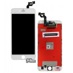 Дисплей iPhone 6S Plus, белый, с сенсорным экраном (дисплейный модуль), с рамкой, High Copy, Kingwo