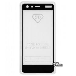 Закаленное защитное стекло для Nokia 2 Dual Sim, 0,25 мм, 2.5D, 9H, Full Glue, черное